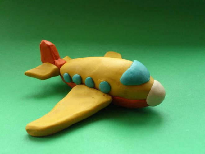 Поделки из пластилина самолёты 86