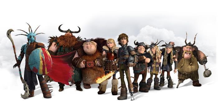 Персонажи мультфильма «Как приручить дракона 2»