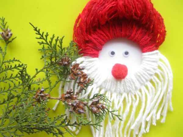 Дед Мороз из ниток_20