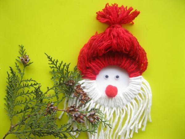 Дед Мороз из ниток_21