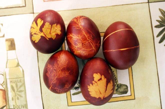 Мастер-класс по окраске яиц