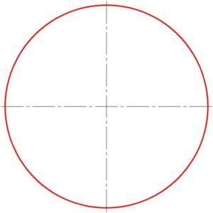 Для начала рисуем круг