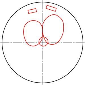 В верхней половине круга рисуем два любопытных глаза