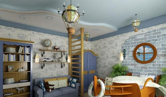 Создаем интерьер детской комнаты в морском стиле