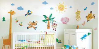 Как украсить стены в детской